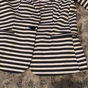 George Jackets & Coats - Black and White striped blazer